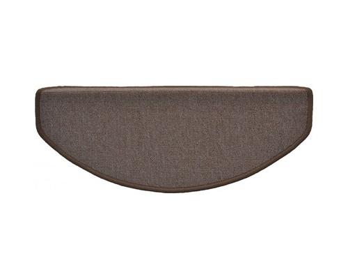Коврик для лестницы укрепленный клейкий угол 650x250 мм коричневый - (396790К)