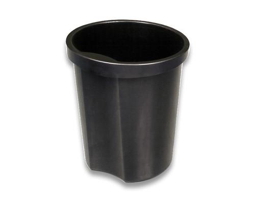 Корзина для мусора с держателем СТАММ 12 л пластиковая черная - (34661К)