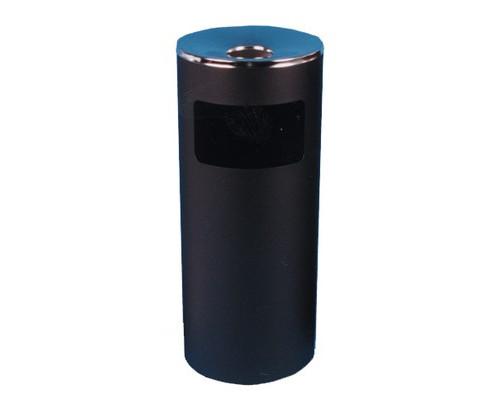 Урна с емкостью для пепла Титан N52 30 л оцинкованная сталь хромированная цвет черный - (5474К)