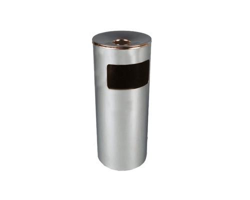 Урна с емкостью для пепла Титан N54 30 л оцинкованная сталь хромированная цвет серебристый - (42700К)