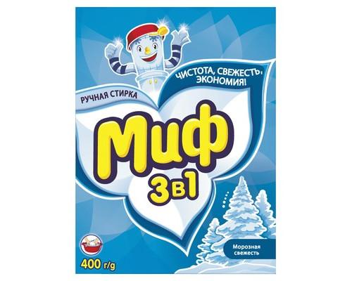 Порошок стиральный Миф для цветного и белого белья 400 г отдушки в ассортименте - (47276К)