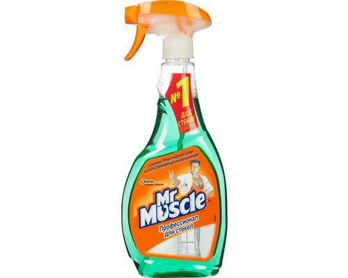 Средство для чистки стекол Мистер Мускул с нашатырным спиртом флакон с распылителем 500 мл - (11372К)