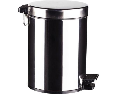Ведро мусорное 5 л с педалью и внутренним контейнером нержавеющая сталь - (330699К)
