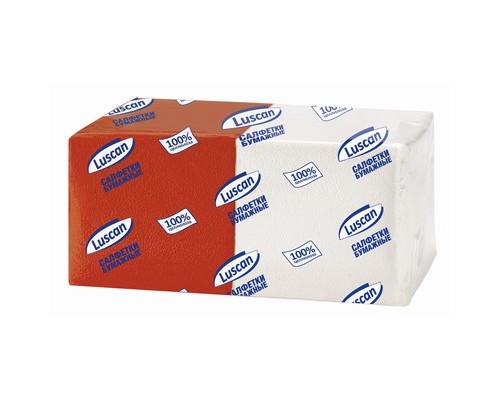 Салфетки бумажные Luscan Profi Pack микс 1-слойные 24x24 см белые/красные 250 штук - (476883К)