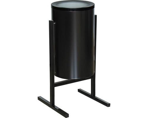 Урна для улицы стальная СЛ2-300 черная 300х510 мм объем 36 л - (486039К)
