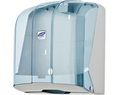 Держатель для полотенец диспенсер Luscan Professional V пластиковый синий прозрачный - (479408К)