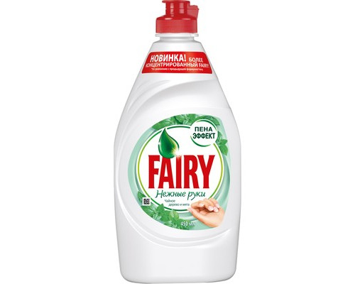Средство для мытья посуды Fairy Нежные руки чайное дерево и мята 450 мл - (645941К)