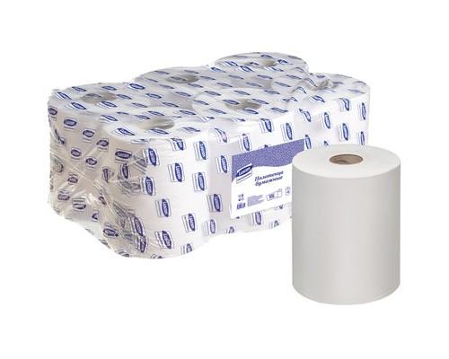 Полотенца бумажные в рулонах Luscan Professional 1-слойные 6 рулонов по 300 метров с перфорацией - (486858К)