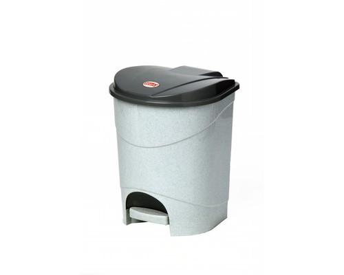 Ведро мусорное с педалью 19 л пластиковое мрамор - (392943К)