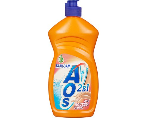 Средство для мытья посуды AOS 500 мл бальзам в ассортименте - (54859К)