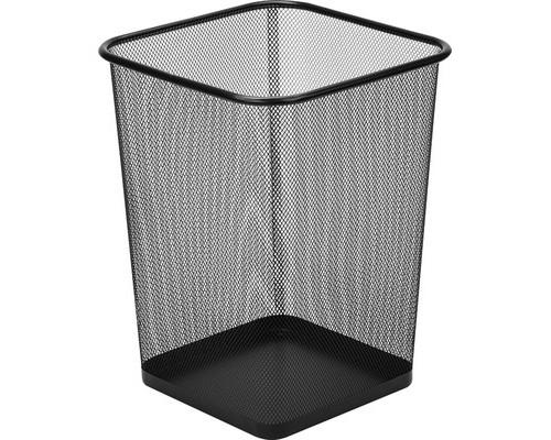 Корзина квадратная 17 л металлическая сетка 268х268х355 мм черная - (383313К)
