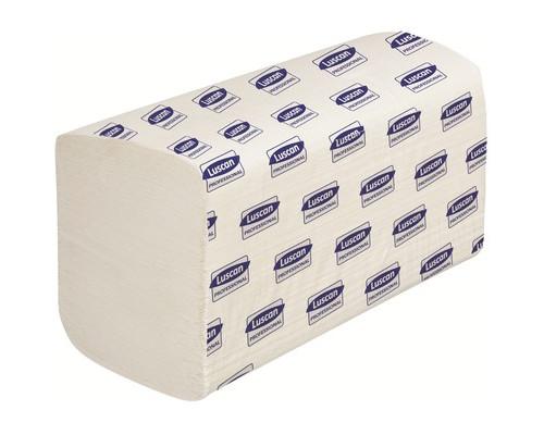 Полотенца бумажные листовые Luscan Professional V-сложения 2-слойные 20 пачек по 200 листов - (601118К)