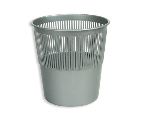 Корзина для мусора Attache 10 л пластиковая серая - (15493К)