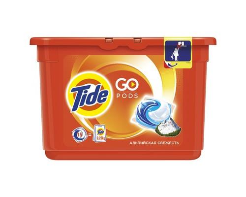 Капсулы для стирки Tide для белого и цветного белья 15 штук - (472616К)