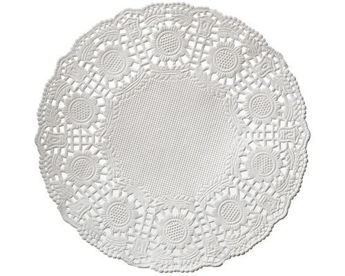 Ажурные салфетки бумажные Vitto 1-слойные 10x10 см белые с тиснением 100 штук - (442510К)