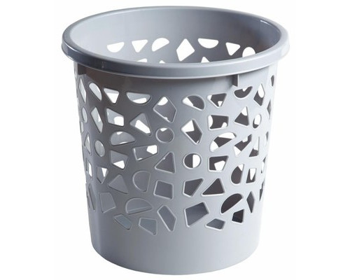 Корзина для мусора пластиковая с держателем 10 л в ассортименте - (267125К)