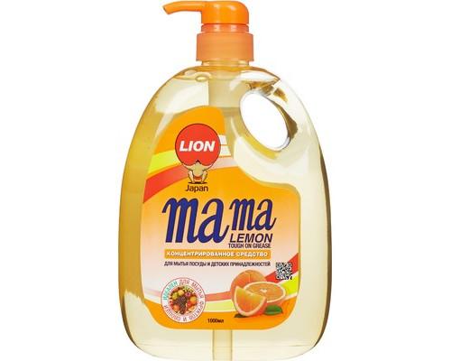 Средство для мытья посуды концентрированное Mama Lemon Tough on Grease антибактериальное 1000 мл - (601045К)