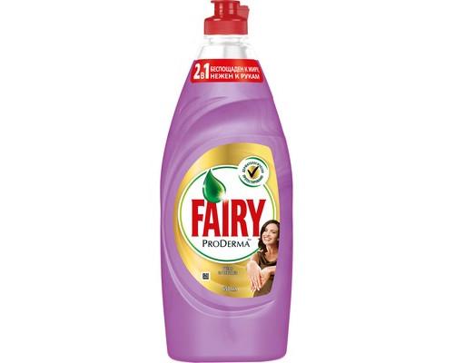 Средство для мытья посуды Fairy ProDerma Шелк и орхидея 650 мл - (645943К)