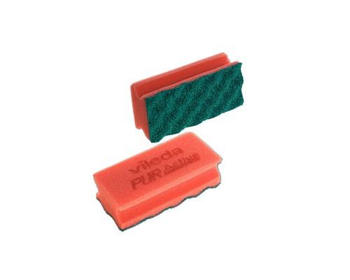 Губки для деликатных поверхностей Vileda Professional 2 штуки в упаковке абразивные красные 70х150х45 мм - (478377К)