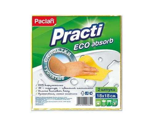 Салфетки Paclan Practi губчатые для любых поверхностей 2 штуки в упаковке - (5416К)