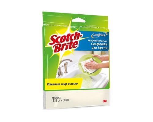 Салфетка Scotch-Brite для кухни микроволокно 300 г/м 30х32 см 1 штука - (502453К)