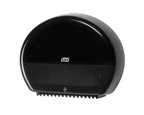 Держатель для туалетной бумаги диспенсер Tork Elevation Т2 555008 пластиковый черный - (129104К)