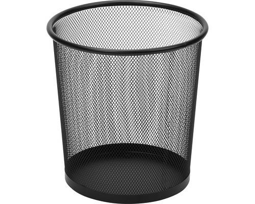 Корзина круглая 6.7 л металическая сетка d225 мм черная - (383311К)