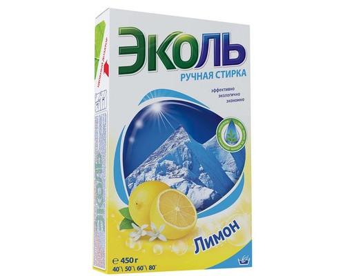 Порошок стиральный Эколь для цветного и белого белья 450 г отдушка лимон - (372456К)