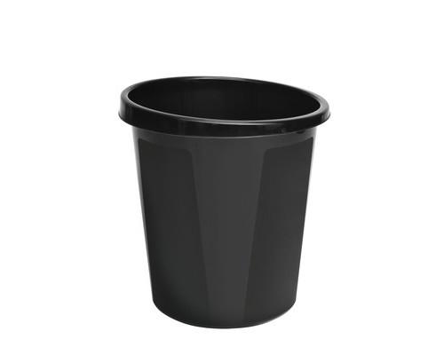 Корзина для мусора СТАММ 9 л пластиковая черная - (243515К)