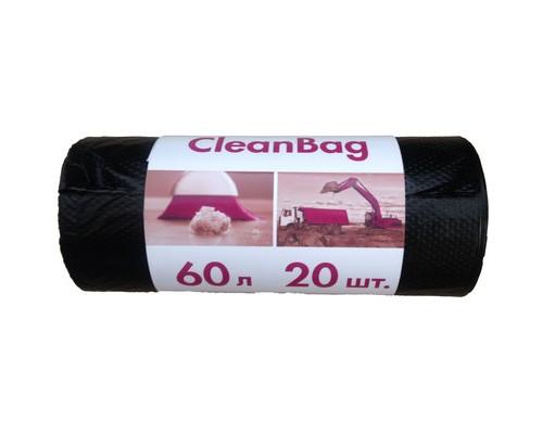 Мешки для мусора на 60 литров Концепция быта черные 15 мкм в рулоне 20 штук 58x65 см - (395512К)