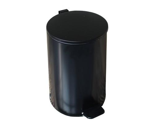 Ведро мусорное 20 л с педалью стальное черное - (514489К)