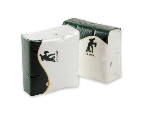 Салфетки бумажные Style Classic 24х24 см белые с тиснением 100 штук - (556719К)