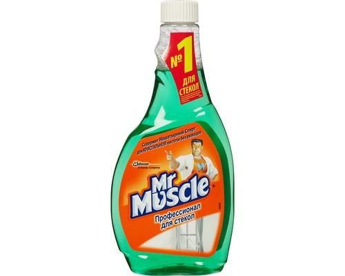 Средство для чистки стекол Мистер Мускул с нашатырным спиртом 500 мл запасной флакон - (54855К)