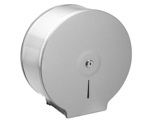 Держатель для туалетной бумаги в рулонах Jumbo нержавеющая сталь/сатин - (687984К)