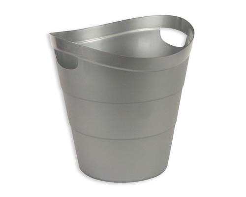Корзина для мусора Uniplast 12 л пластиковая серая с ручками - (45072К)