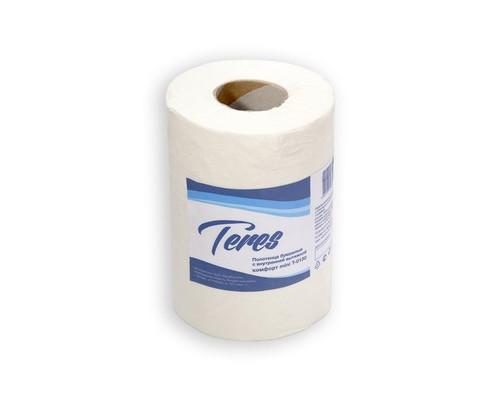 Полотенца бумажные Терес Комфорт мини ЦВ Т-0130 1-слойные 12 рулонов по 120 метров - (425624К)