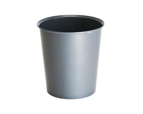 Корзина офисная 14 л пластиковая серая - (397232К)