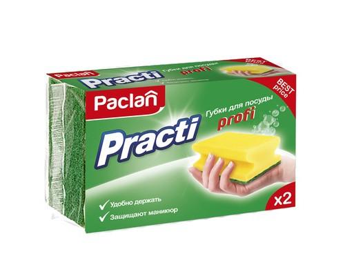 Губки для мытья посуды Paclan Practi поролоновые 90x70x50 мм 2 штуки - (689927К)