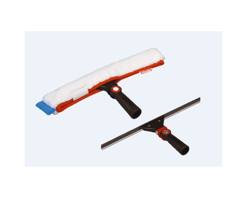 Комплект для мытья окон Vileda Эволюшн щетка 45 см с насадкой водосгон 45 см без телескопической ручки - (396781К)