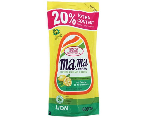 Средство для мытья посуды концентрированное Mama Lemon лимон 600 мл - (601047К)