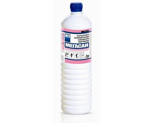 Профессиональное концентрированное средство для очистки и дезинфекции сантехники и кафельной плитки Мегасан 1 л - (538294К)