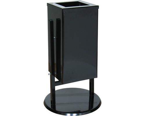 Урна для улицы стальная СЛ-1К черная 250х250х500 мм объем 31 л - (486042К)