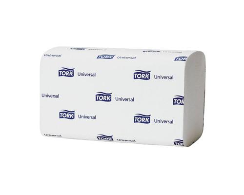 Полотенца бумажные листовые Tork Universal H3 120108 ZZ-сложения 1-слойные 20 пачек по 250 листов - (52333К)