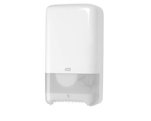 Держатель для туалетной бумаги диспенсер Tork Elevation пластиковый белый - (186715К)