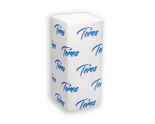 Полотенца бумажные листовые Терес Стандарт Т-0201 V-сложения 1-слойные 20 пачек по 200 листов - (425622К)