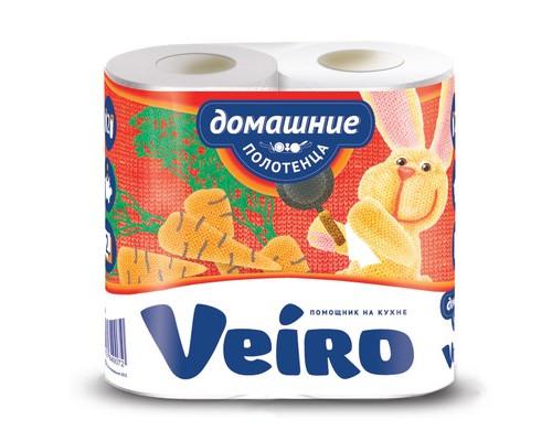 Полотенца бумажные Veiro Домашние с тиснением двухслойные 2 рулона - (449699К)