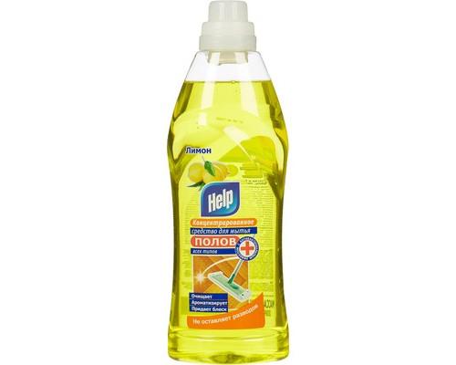 Средство для мытья полов Help 1 литр отдушки в ассортименте концентрат - (132665К)