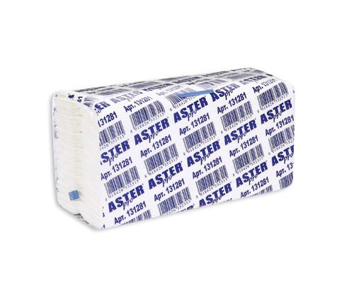 Полотенца бумажные листовые Aster Pro 131281 С-сложения 2-слойные 153 листа в пачке - (86743К)