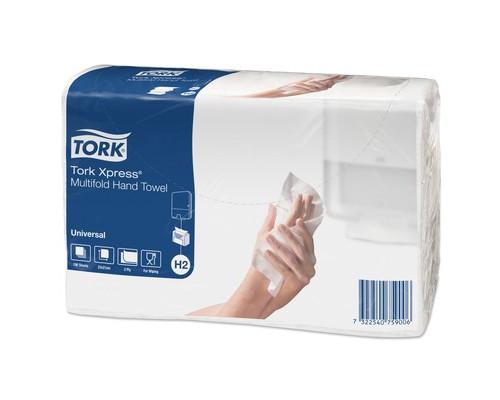 Полотенца бумажные листовые Tork Universal H2 471103 Z-сложения 2-слойные 20 пачек по 190 листов - (453126К)
