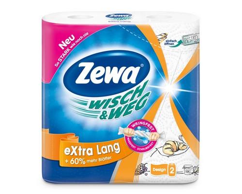 Полотенца бумажные Zewa W&W с рисунком двухслойные 2 рулона - (105017К)